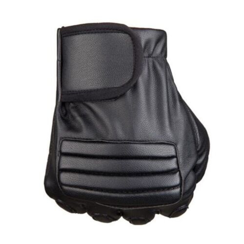 PU Leather Drive Bike Gym Fitness Half Finger Glove FingerLess Breathable Cool