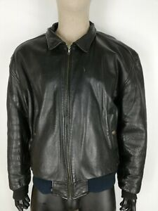 LEVI-039-S-Cappotto-in-PELLE-LEATHER-Giubbotto-Jacket-Coat-Giacca-Tg-XL-Uomo