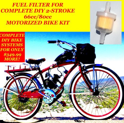 FUEL FILTER FOR COMPLETE 2-STROKE 66CC//80CC MOTORIZED BICYCLE KIT BIKE
