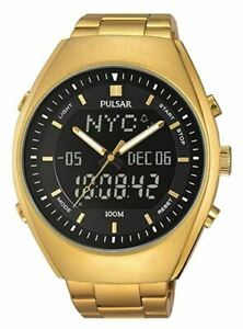 Pulsar-Men-039-s-Analog-Digital-Watch-World-Time-and-Stainless-Steel-Band-PZ4012X1