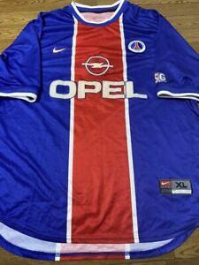Maillot PSG Paris Saint-Germain jersey nike shirt vintage Opel 1999 2000