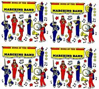 Frances Meyer Marching Band Scrapbook Stickers Music Banner 4 Sheets