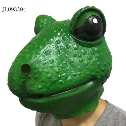 Halloween Creepy Animal Prop Latex Party Unisex Scary Animal Over Head Mask