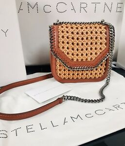 65219cf7efdc NEW! Stella McCartney Tan Falabella Box Wicker Mini Shoulder Bag ...