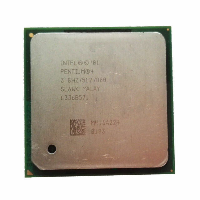Intel Pentium 4 3GHz SL6WK P4 512KB L2/FSB 800MHz Socket 478 CPU Processor