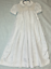 Christening-or-Baptism-dress-Satin-with-smocked-bodice miniature 1