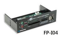 52-in-1 Mutli-card Reader W/ Built-in Multimedia 5.25 Bay Mount Panel, Black