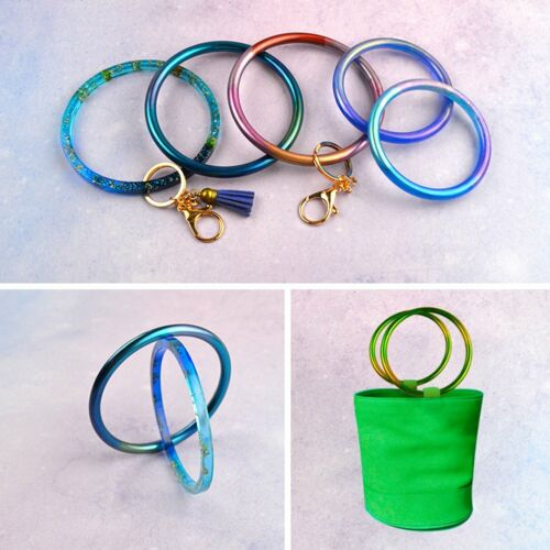 Silicone Mold Casting Mould Resin Keychain Bracelet Bangle DIY Mold Tool us