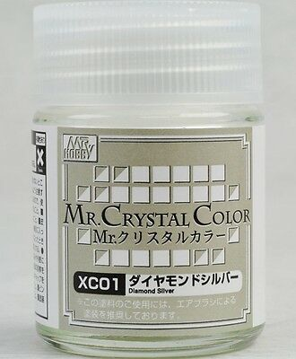 MR HOBBY Crystal Color Gunze LACQUER XC01 Diamond Silver MODEL KIT PAINT 18ml