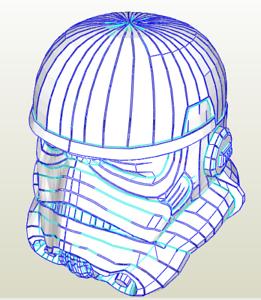 Details about DIY Star Wars Stormtrooper pepakura helmet kit cosplay FREE  POSTAGE