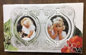 Studio Nova glass Love Birds Double Picture Frame made in germany
