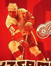 DETROIT RED WINGS hockey T shirt NHL Steve Yzerman action tee XL forward #19