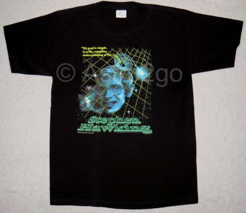 Stephen Hawking-Physique Science Cambridge cosmologie des trous noirs als T Shirt S-2X