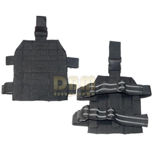 Molle Drop Leg Tactical Thigh Rig Pals Platform Panel Holster Black