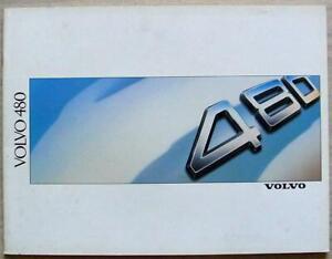 VOLVO 480 Car Sales Brochure 1988 #4069/88