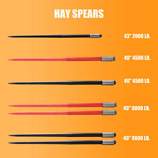 4349 Square Hay Bale Spear Wide Tine Spike Skid Conus For Tractor