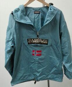 nuovi stili 06725 914b0 Napapijri - giacca a vento impermeabile con cappuccio - azzurro ...