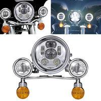 Led Headlight Turn Signal Passing Lights For Yamaha Vstar 650 1100 Custom
