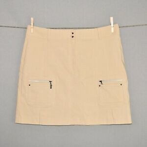 JAMIE-SADOCK-110-Tan-Khaki-Air-Wear-Golf-Skort-Size-12