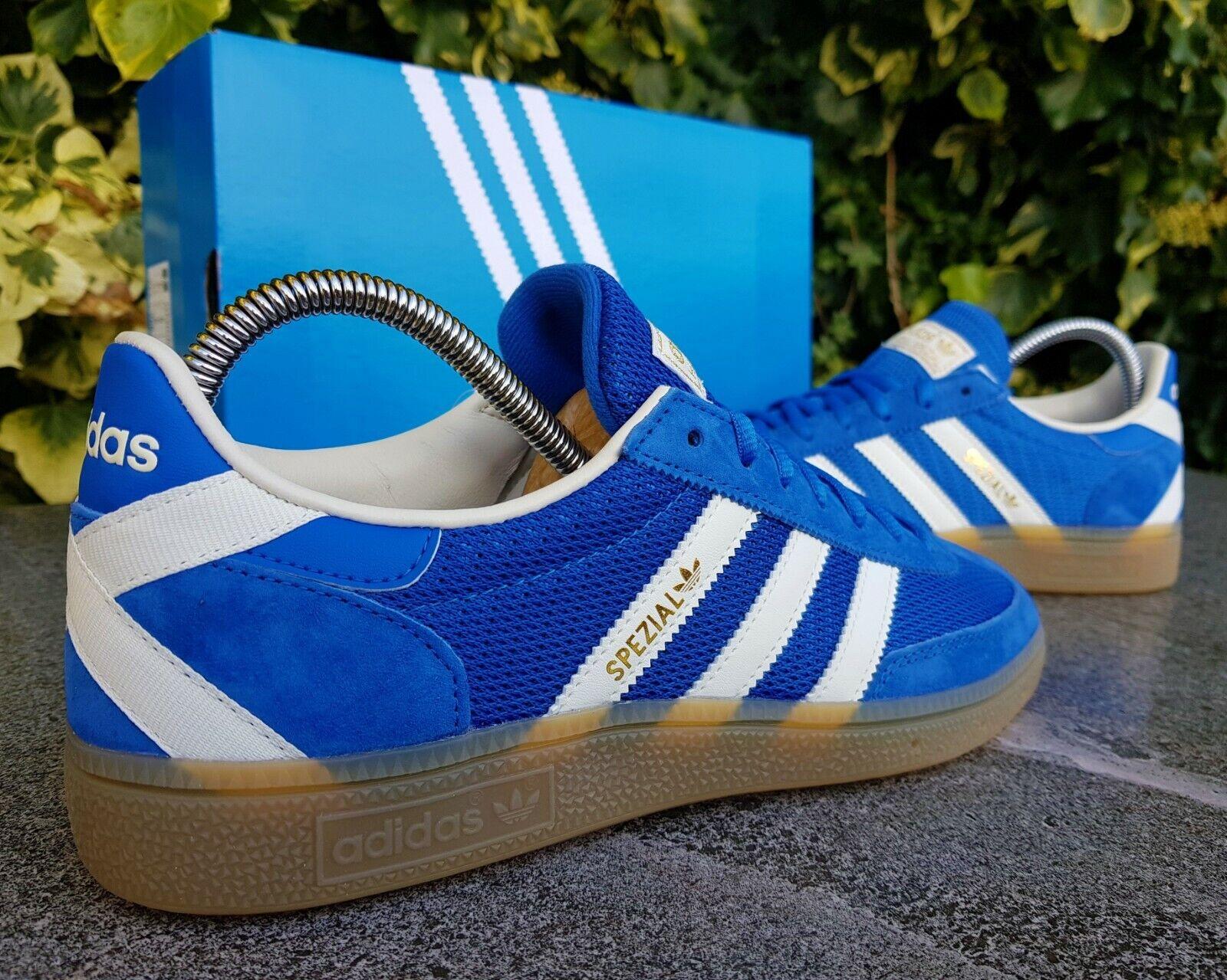BNWB & Authentic adidas originals ® Spezial Royal Blau Weiß Trainers UK Größe 8