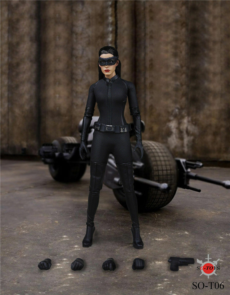 1 6 Scale SO-T06 Batman Series Anne Hathaway Head Sculpt & Clothes Set