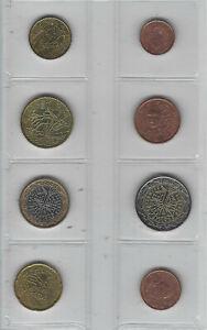 Série Euro France 8 pièces neuves 1999
