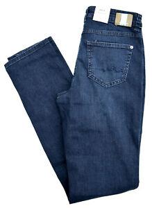 100% QualitäT Mac Jeans Angela Blue Denim Stretch Dunkel Blau Slim Straight Leg Gr.46 L 34 Neu äRger LöSchen Und Durst LöSchen
