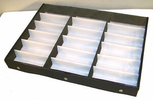 8c63fa04b402 PORTABLE SUNGLASS CLEAR COVER 18 PAIR DISPLAY TRAY glasses storage ...