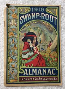1916 Swamp Root Almanac Dr Kilmer Native American Indian Cover