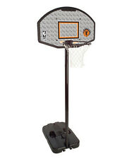 "Gray 44"" Portable 10' Basketball Hoop Backboard System Outdoor Home Sports Net"