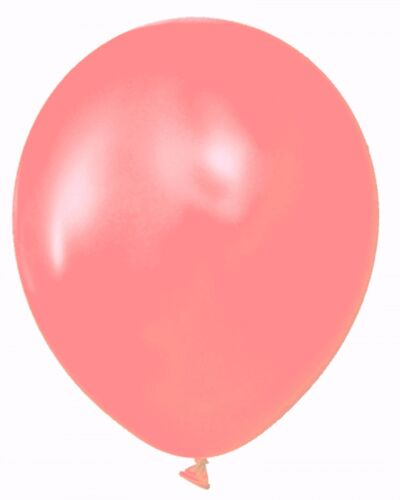 """Coral 24 Latex Balloons 12/"""" When Inflated Solid Colors"""