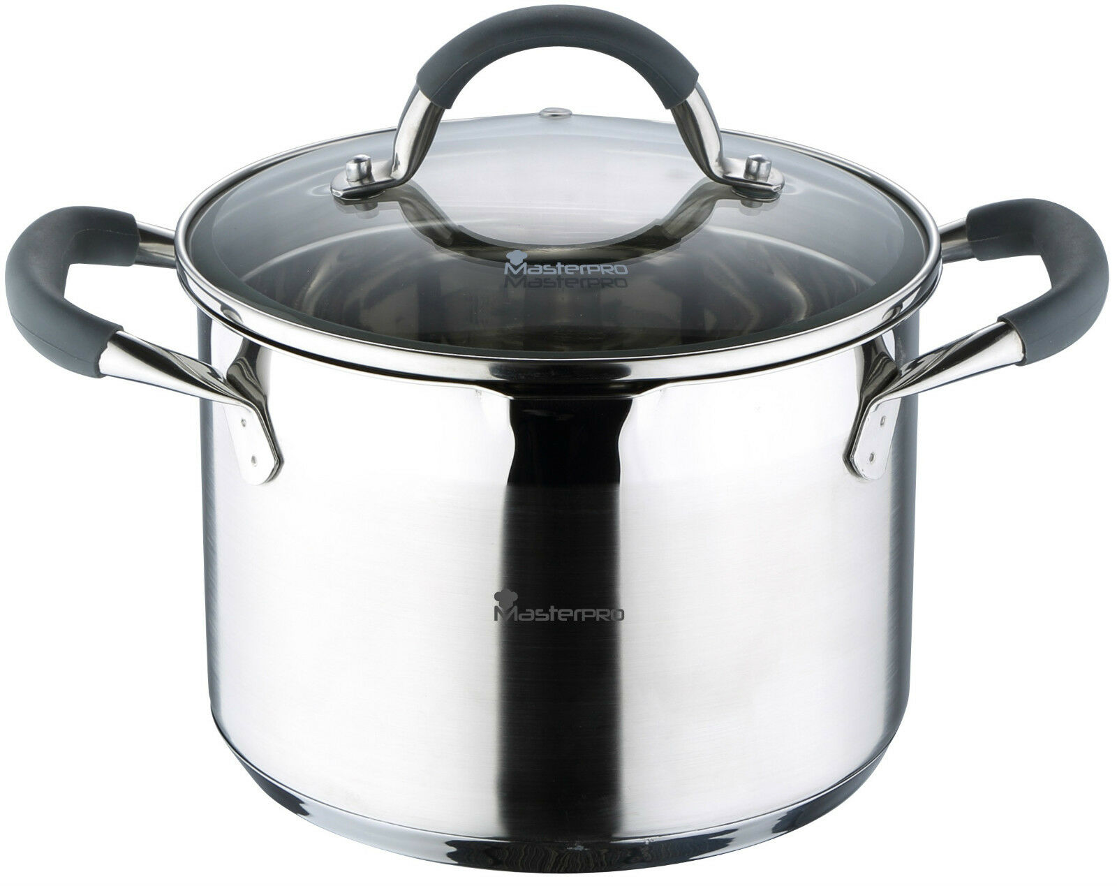 Bergner Masterpro Stainless Steel Pans Full Induction with Strainer & Handles