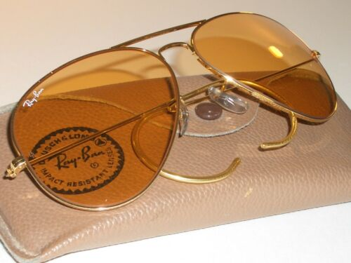 1980s CIRCA 58mm VINTAGE B&L RAY BAN WRAP-AROUNDS