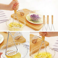 Kitchen Stainless Steel Potato Egg Masher Ricer Vegetable Fruit Crusher Tool Hot