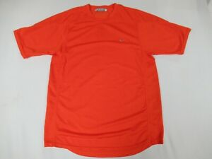 Nike-Gris-Brode-Swoosh-Orange-Large-Athletique-T-Shirt-D18