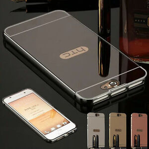 Hybrid-Aluminum-Metal-Mirror-Back-Cover-Frame-Case-For-HTC-Desire-One-M8-M9-A9