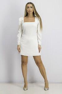New Danielle Bernstein Women's Long-Sleeve Mini Dress Cloud White Plus Size 20W