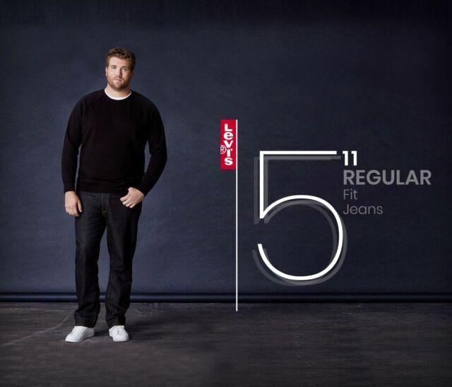 Original Levis 511 Jeans de Calce Ajustado Para hombres Clavados noche oscura brillo del dril de algodón elástico