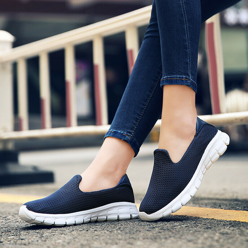 Girls shoes Pull On Solid color Sport Plimsoll Running shoes Hiking Women shoes