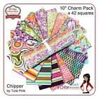 Tula Pink Fabric Chipper Layer Cake Roll quilting fabrics retro modern boho 70s