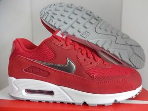 buy online a657d 174d5 Image is loading NIKE-AIR-MAX-90-ESSENTIAL-GYM-RED-METALLIC-