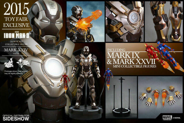 Iron Man Mark Xxiv Tanque 1/6 Figure Hot Toys Sideshow MMS303 Juguete Fair Excl