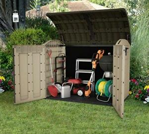 Image Is Loading Large Outdoor Storage Shed Ultra Plastic Garden Tools