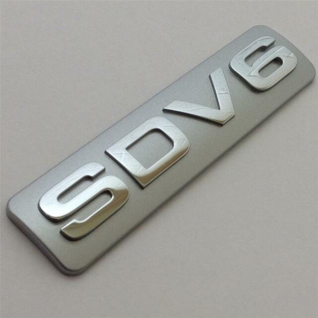 GENUINE LAND ROVER SDV6 BADGE Discovery 3,4  SDV6 Rear Boot Badge Emblem