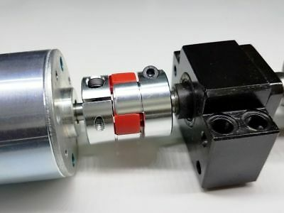 "6.35 x 9.53 mm 1//4/"" x 3//8/"" Flexible Jaw Shaft Coupling CNC AC DC Motor Coupler"