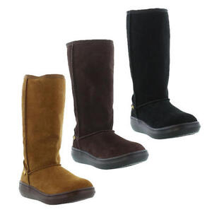 Rocket-Dog-Sugar-Daddy-Womens-Black-Brown-Suede-Leather-Boots-Size-UK-3-8