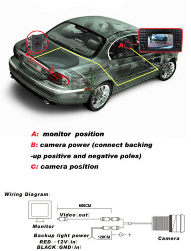 CMOS Car Reverse Rear-View Backup Camera For Cadillac SRX 2009 2010 2011 2012