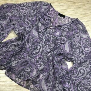 S-110-Nili-Lotan-Womens-Blouse-Purple-Paisley-Floral-Long-Slv-Scoop-100-Silk-M