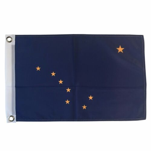 State of Alaska 12 X 18 Polyester Flag with Grommets #S11