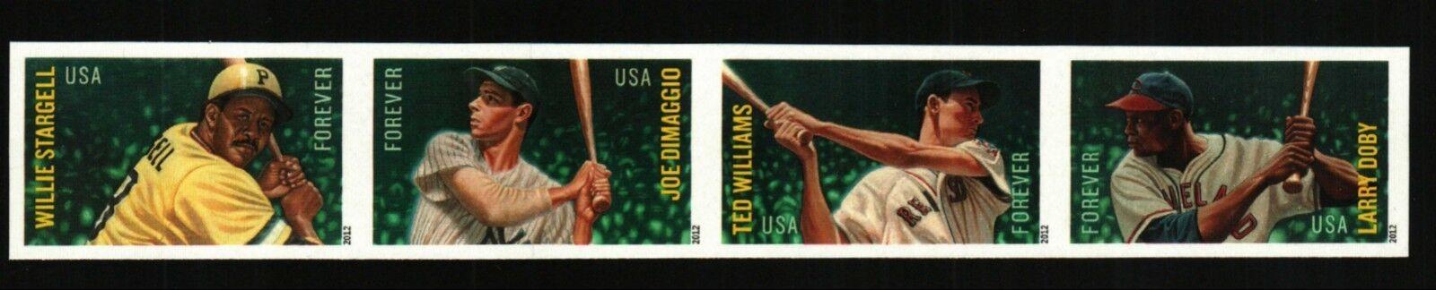 2012 45c Major League Baseball All-stars, Strip of 4 Sc